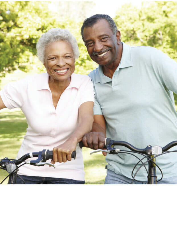 couples out biking