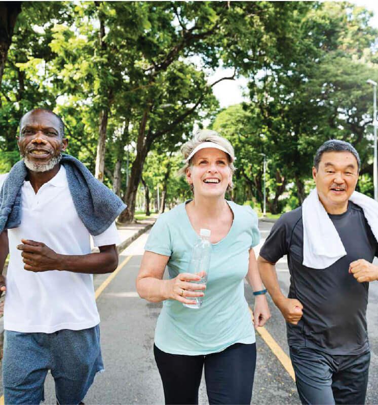 residents jogging